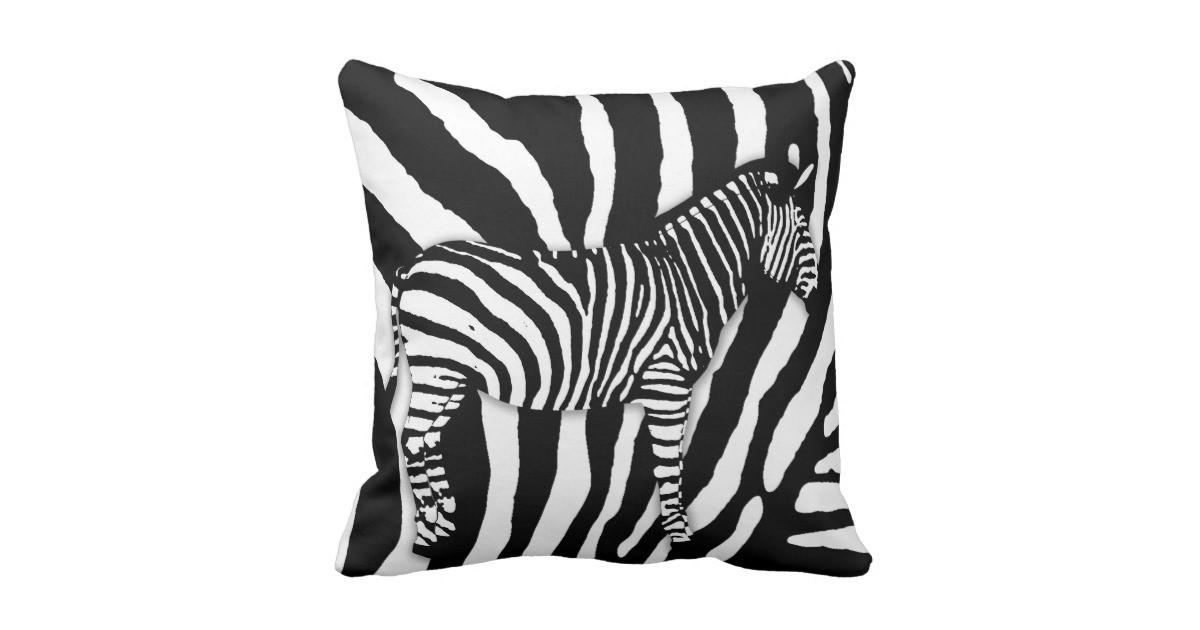 Zebra Print Throw Pillow Zazzle