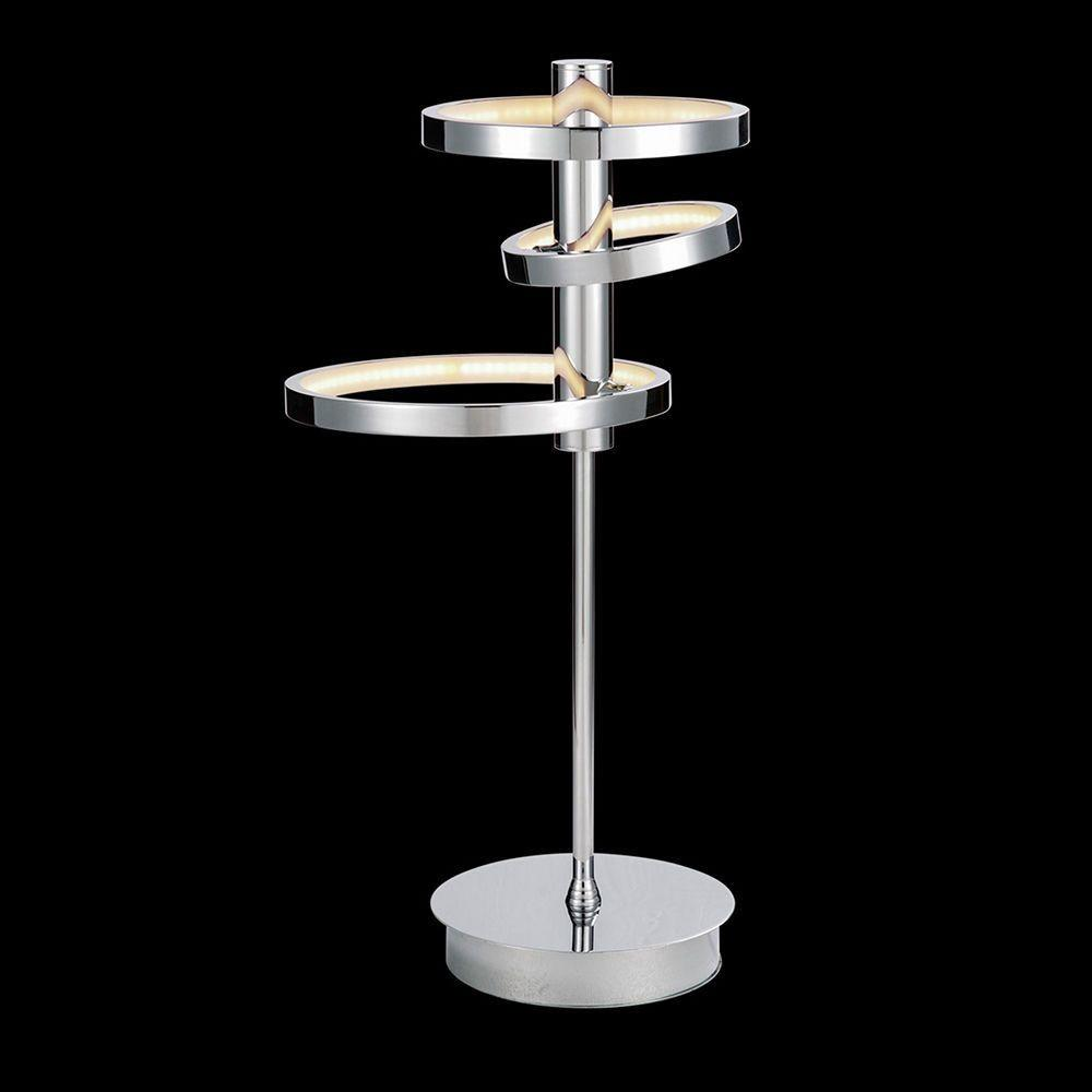 Zenith Light Table Lamp Ring Shades Chrome