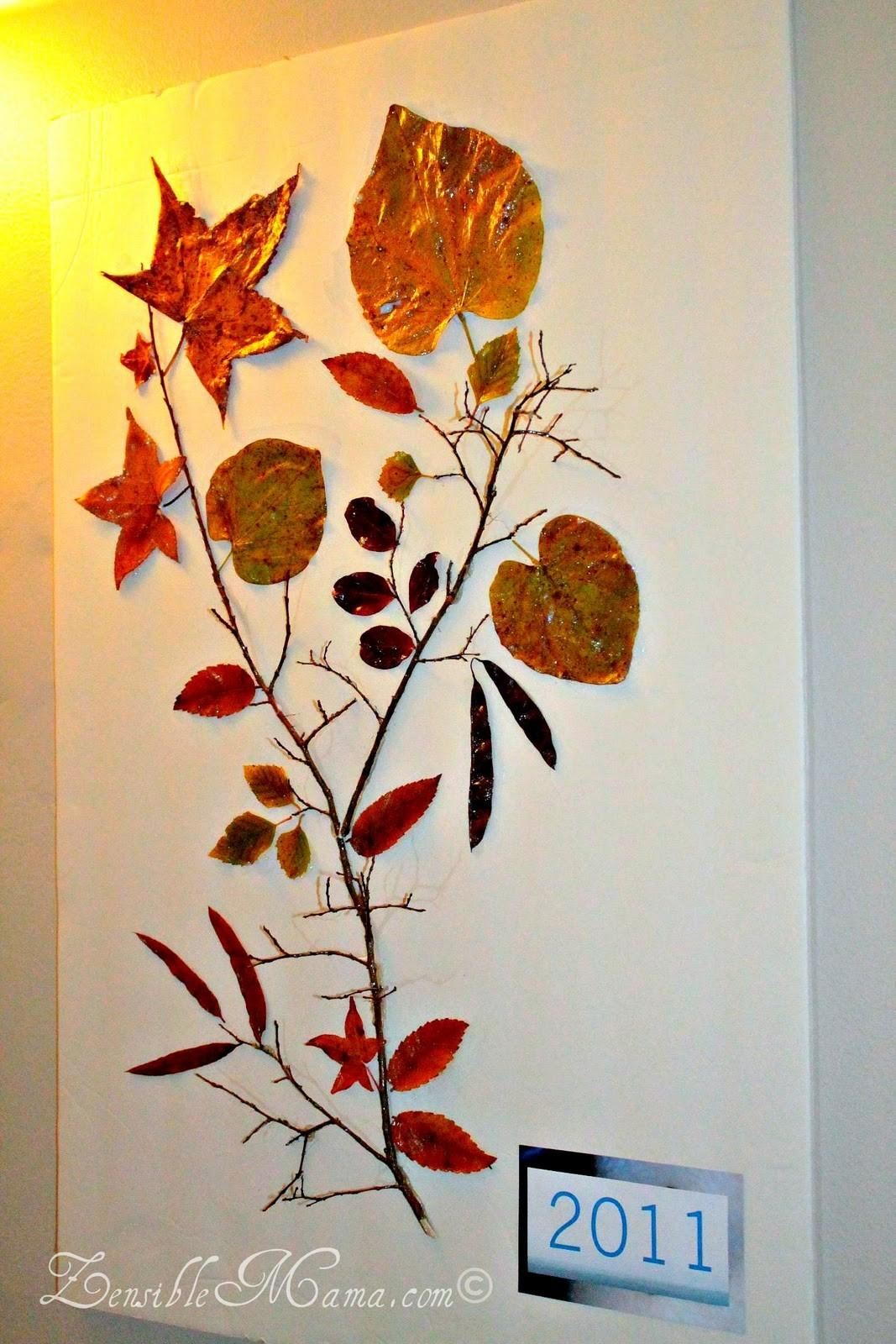 Zensible Mama Diy Fall Leaf Tree Branch Wall Art