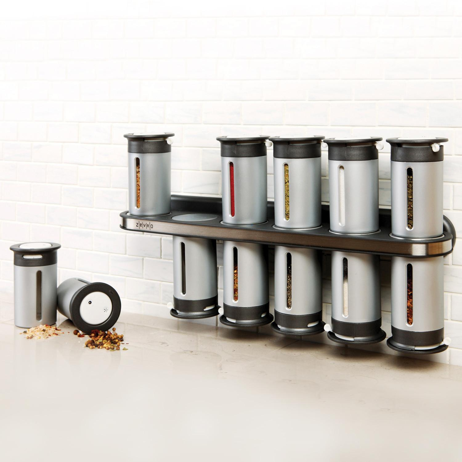 Zero Gravity Magnetic Can Spice Rack Grey