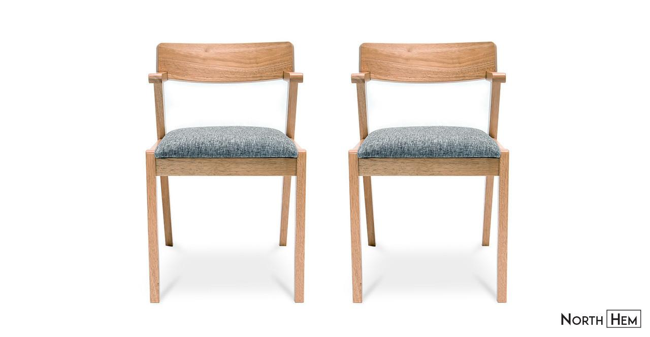 Zola Wooden Dining Chairs Padded Seat Pebble