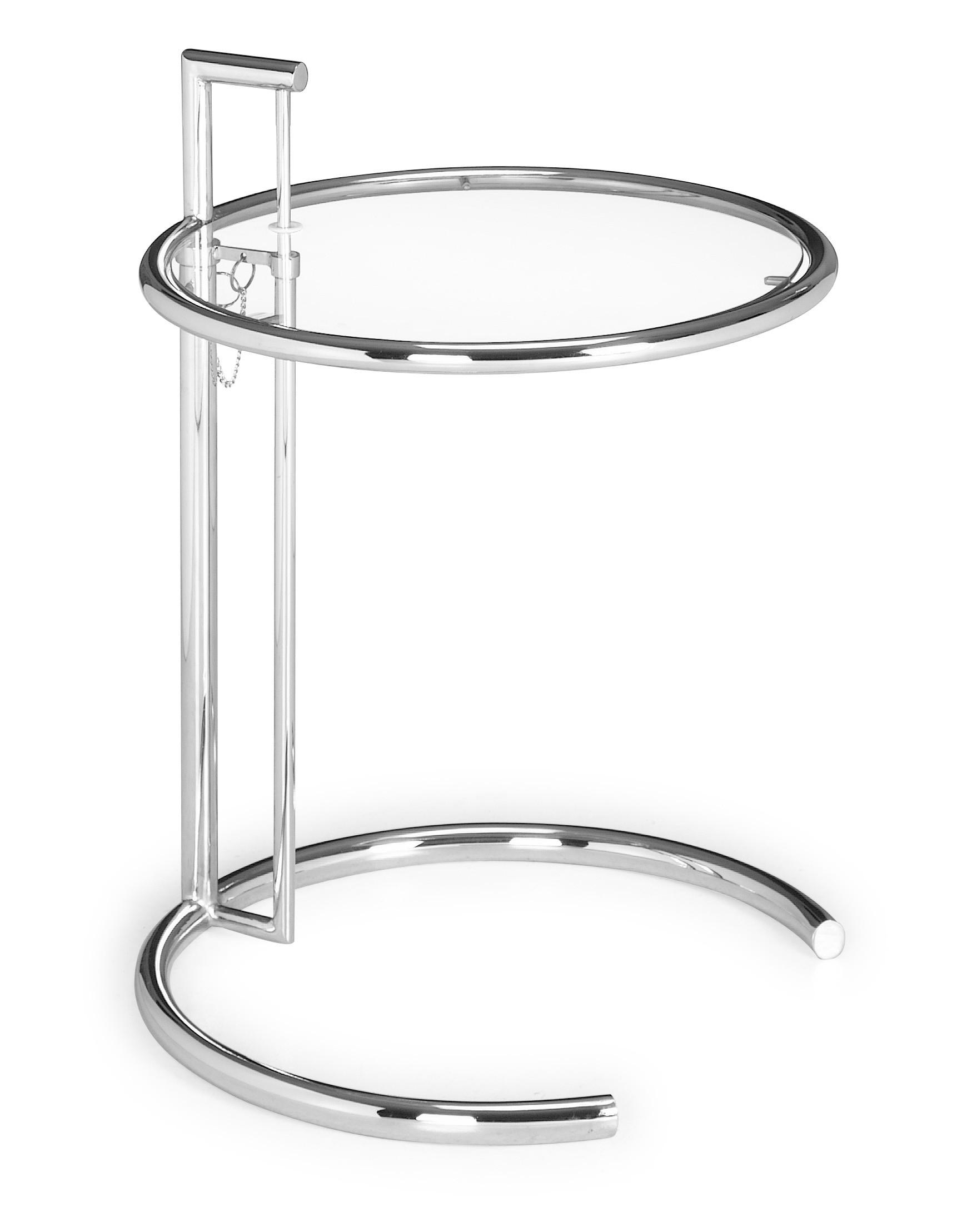 Zuo Modern Eileen Grey Side Table Tempered Glass