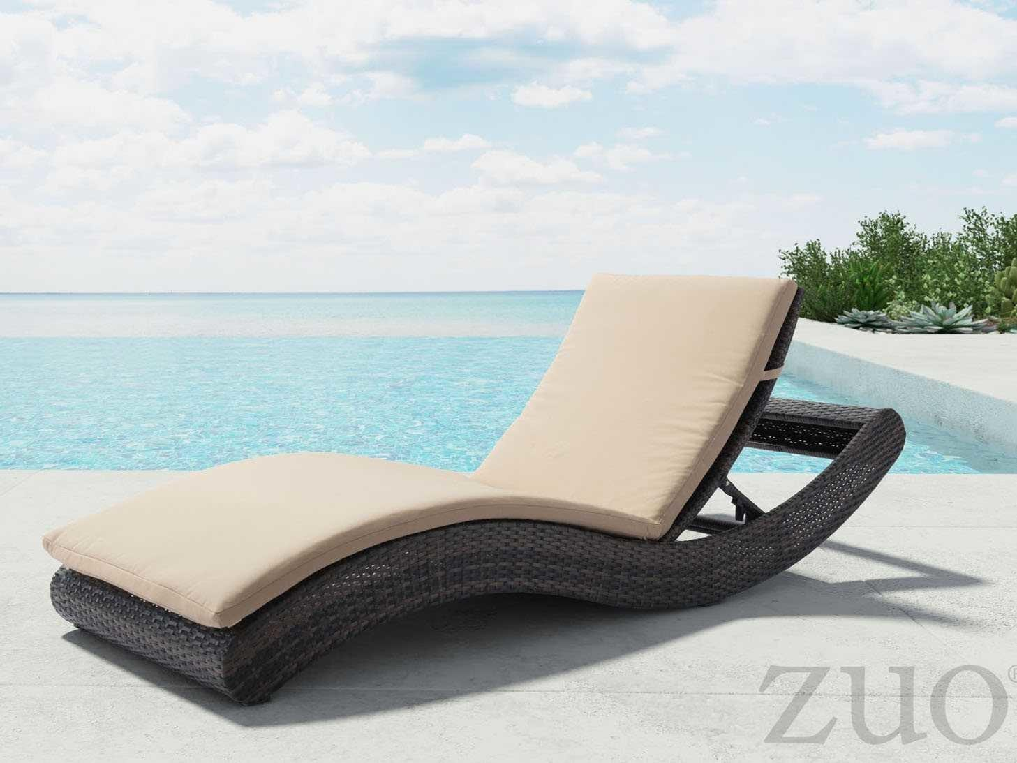 Zuo Outdoor Pamelon Beach Aluminum Wicker Chaise
