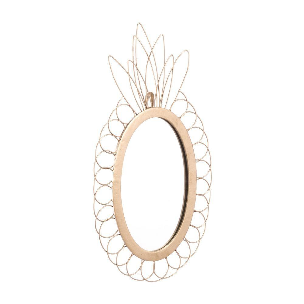 Zuo Pineapple Gold Wall Mirror A Home Depot